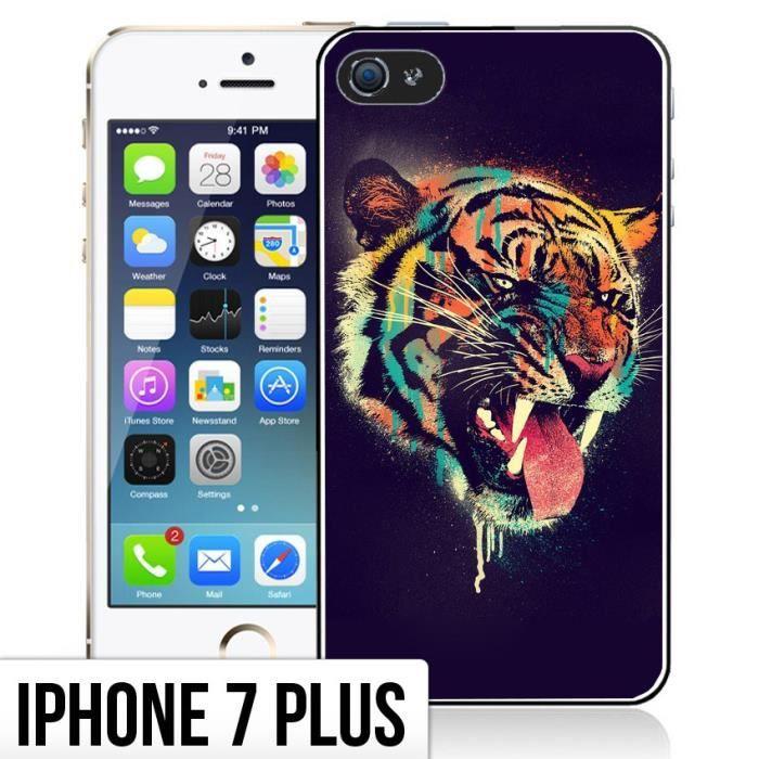 coque iphone 7 plus tigre peinture