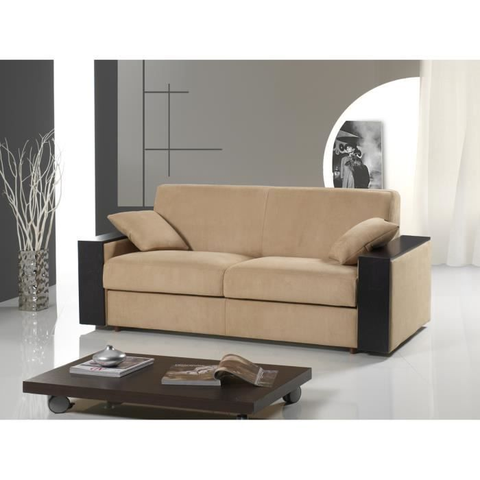 canap convertible tex rapido beige largeur 160 cm achat vente canap sofa divan. Black Bedroom Furniture Sets. Home Design Ideas