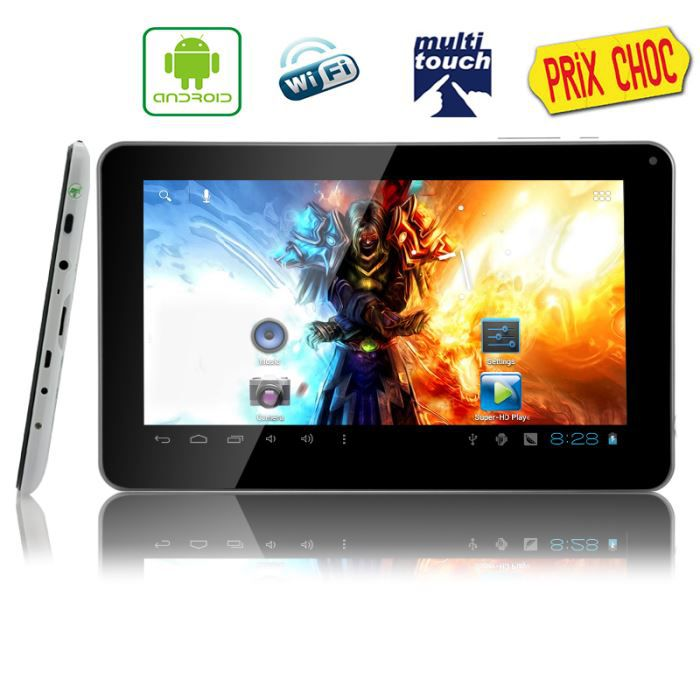tablette tactile 9 pouces android 4 0 8 gb achat. Black Bedroom Furniture Sets. Home Design Ideas