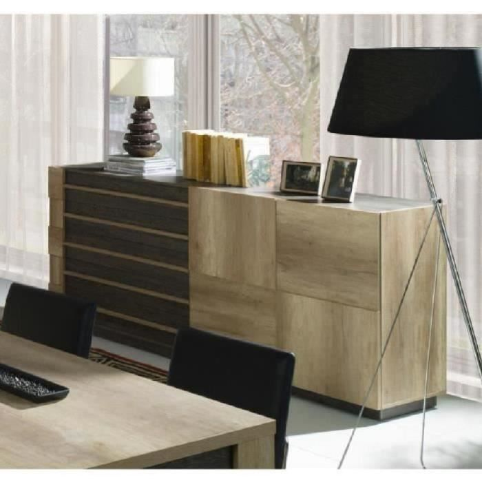 price factory buffet bahut enfilade moyen mod le davos 2 portes 5 tiroirs meuble design. Black Bedroom Furniture Sets. Home Design Ideas