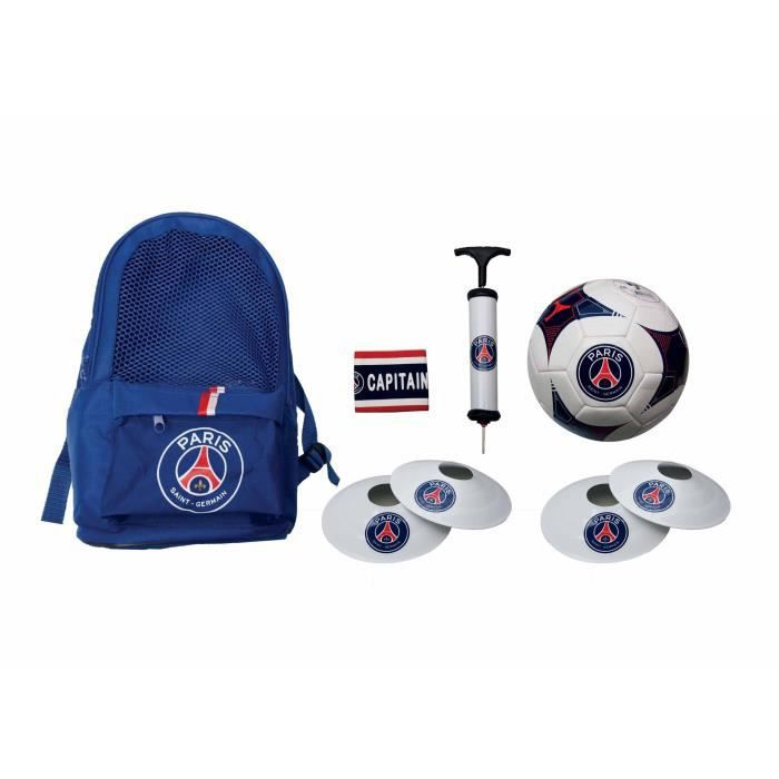 8938a5dba5 Football kit PSG - Sac + ballon + pompe + brassard + plots - Collection  officielle PARIS SAINT GERMAIN