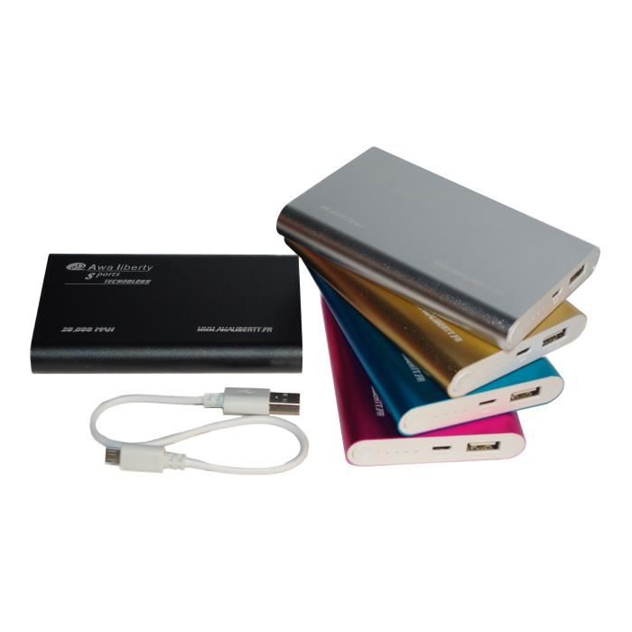 Batterie Externe Ultra Slim - 20,000 mAh - Or - Achat