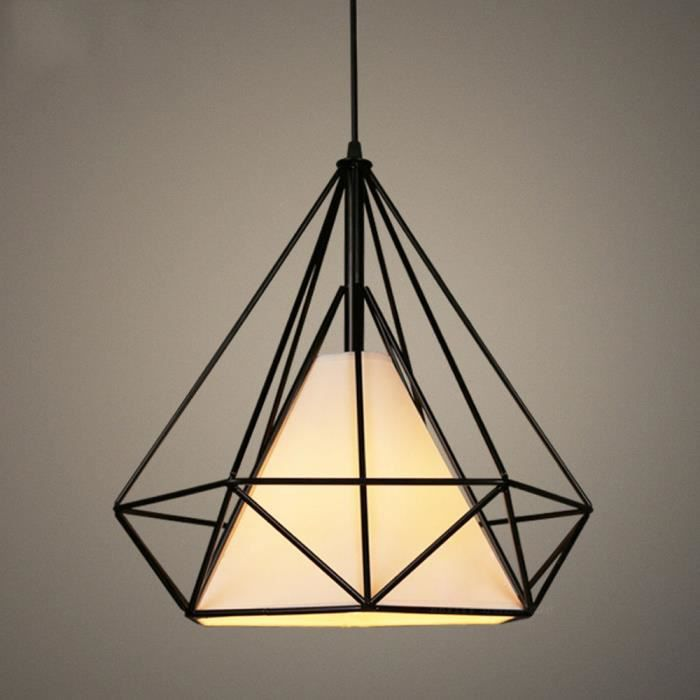 LUSTRE ET SUSPENSION EXBON Suspension Filaire Noir - Longueur Adjustabl