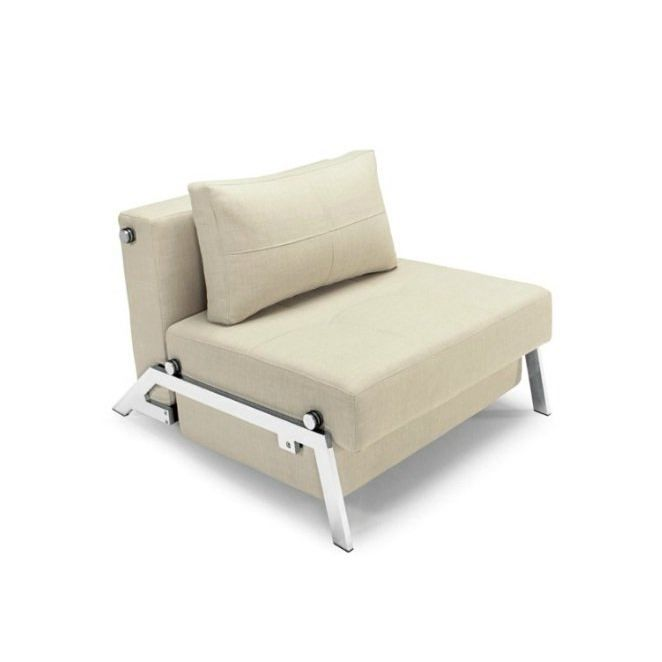 fauteuil convertible cubed chair blanc ivoire achat. Black Bedroom Furniture Sets. Home Design Ideas