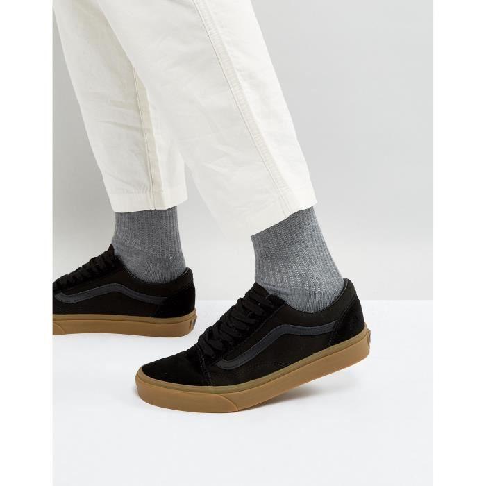 Vans Old Skool Baskets homme Avec semelle de gomme en noir ...