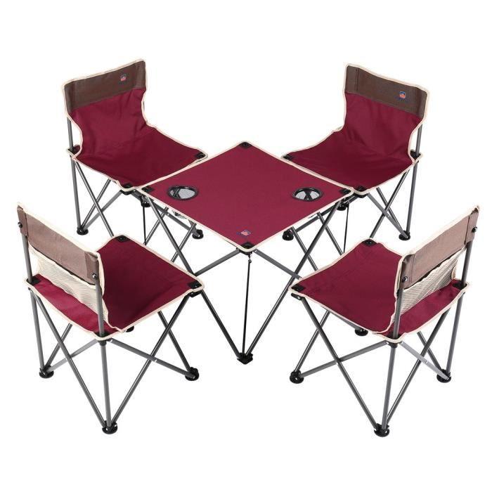 Festnight Table de Camping Pliante Grise