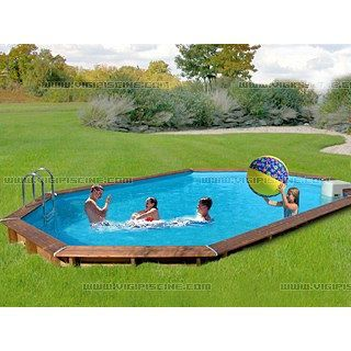 Piscine semi enterr e sunbay jawa ovale achat vente for Piscine semi enterre