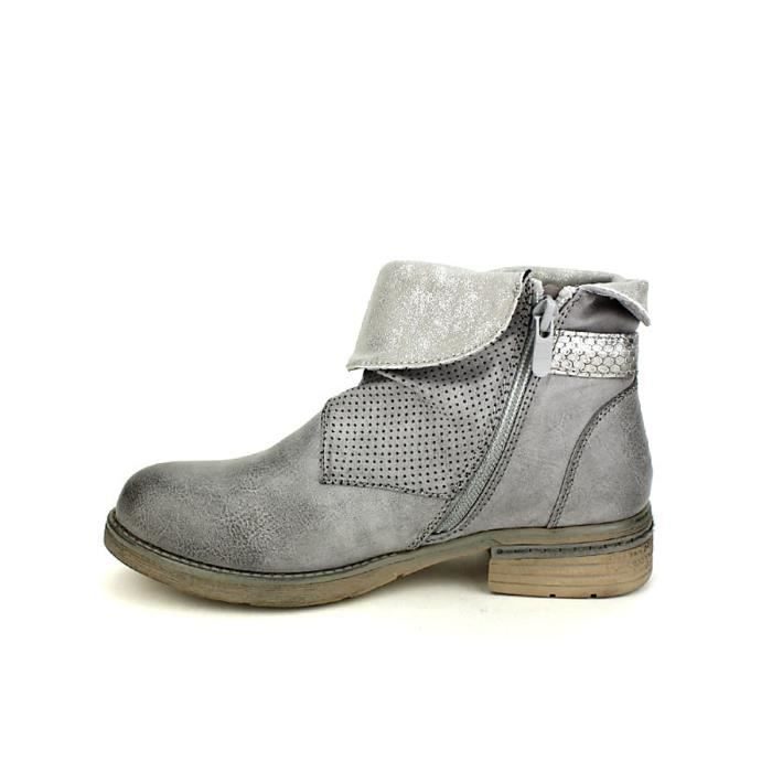 Bottines Cendriyon Chaussures Femme bottine Gris boots ZqxvcYR