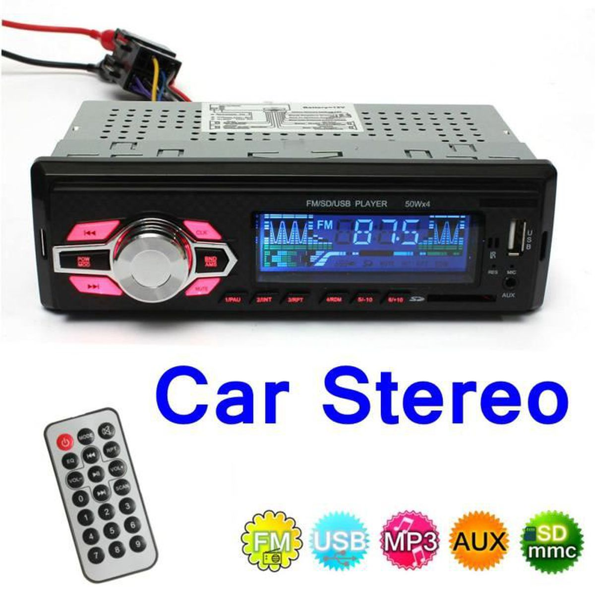tempsa autoradio audio st r o radio lecteur mp3 fm usb t l commande voiture achat vente. Black Bedroom Furniture Sets. Home Design Ideas