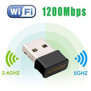 CLE WIFI - 3G Mini USB WiFi Adaptateur 1200Mbps AC Dual Band, Wi