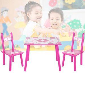 TABLE ET CHAISE Ensemble Table avec 2 Chaises Table et Enfant en B