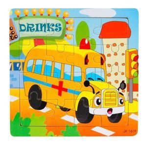 PUZZLE Puzzle enfants en bois 16 pièces puzzle jouets et