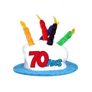 CHAPEAU - PERRUQUE Chapeau gâteau anniversaire 70 ans