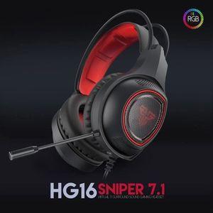CASQUE AVEC MICROPHONE HG16 Pro Casque Gamer avec micro et RGB LED de jeu
