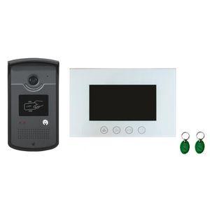 INTERPHONE - VISIOPHONE Interphone vidéo 2 fils CARDS avec lecteur de badg