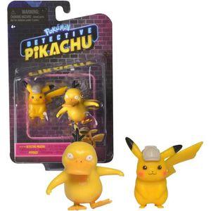 FIGURINE - PERSONNAGE POKEMON - film Détective Pikachu - Pack de 2 figur
