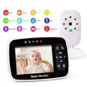 ÉCOUTE BÉBÉ Bébé Moniteur 3.5 Inches LCD Couleur Babyphone Cam
