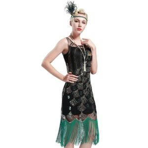 ROBE Les années 1920 femmes Flapper Robe Gatsby le Magn