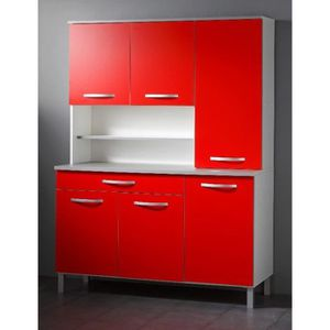 buffet meuble de cuisine rouge achat vente pas cher. Black Bedroom Furniture Sets. Home Design Ideas