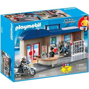 UNIVERS MINIATURE PLAYMOBIL 5299 Commissariat de police transportabl