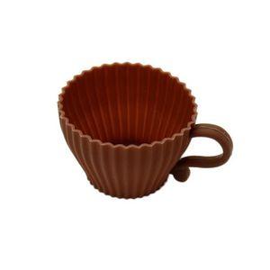 MOULE  Forme de cœur moule en silicone Bonbons Muffin Cup