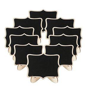 fleur pour Message Board Signes 10Pcs Mini Tableau Noir Blackboard Bois Clip Star