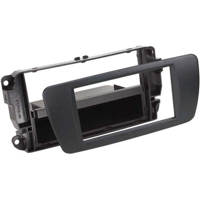 Adaptateur de façade 2-DIN avec vide poche Seat Ibiza 2008 > nit noir