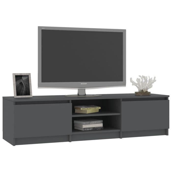 FOR Meuble TV, Gris, 140cm, Aggloméré #1