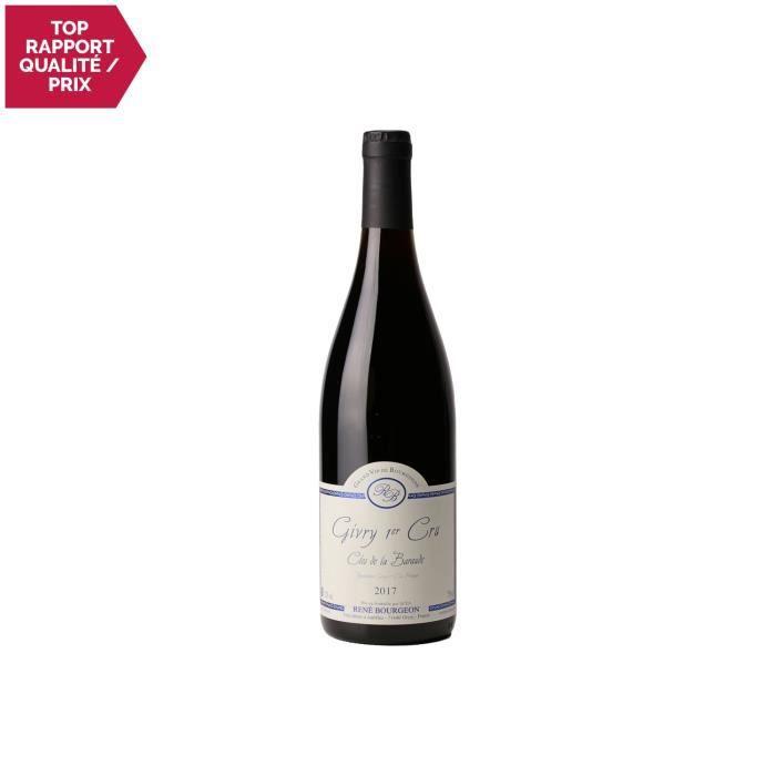 Givry 1er Cru Clos de la Baraude Rouge 2017 - 75cl - Domaine René Bourgeon - Vin AOC Rouge de Bourgogne - Cépage Pinot Noir