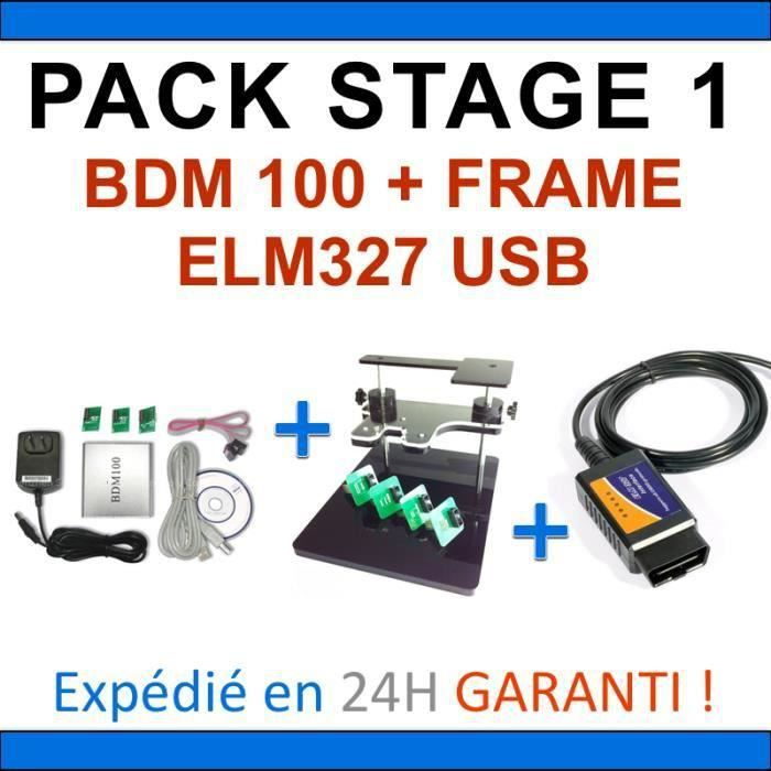 REPROGRAMMATION CALCULATEUR - PACK COMPLET - INTERFACES BDM100 BDM FRAME ELM327 USB - DIAGNOSTIQUE AUTOMOBILE