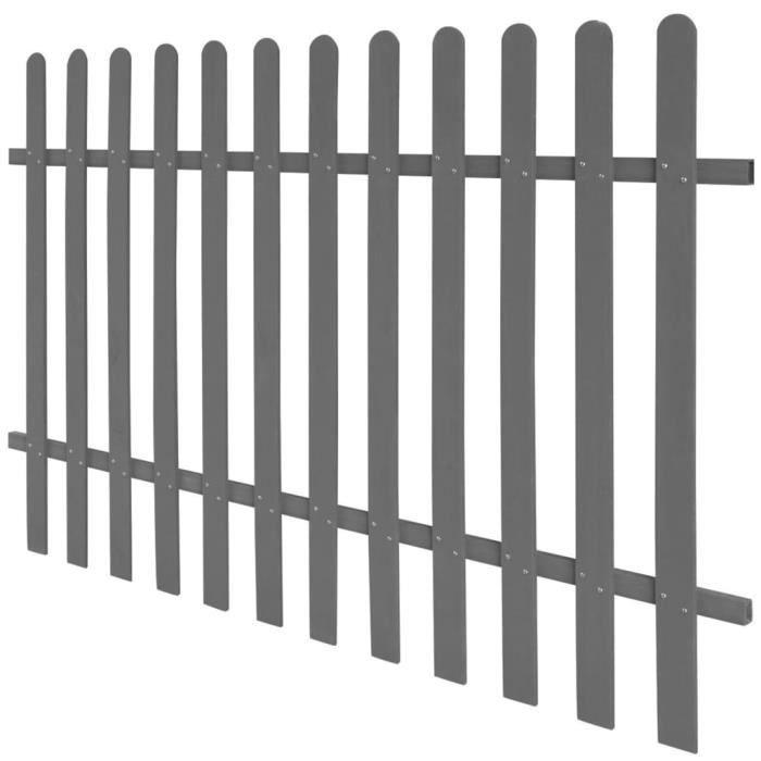 Moderne - Clôture à piquets -Clôture à treillis - Clôture jardin- WPC 200 x 120 cm classique💎6386
