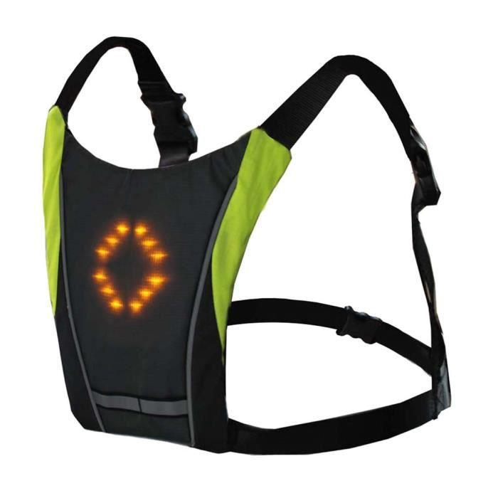 Kongyide vélo LED sans fil sécurité clignotant gilet équitation guide de nuit feux d'avertisse - Modèle: Gris clair - HJZXCZMC04756