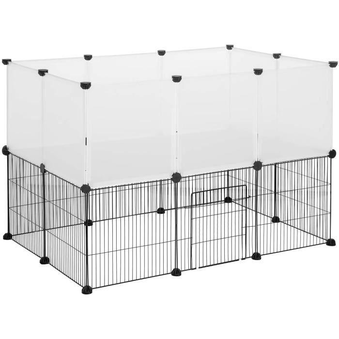 Parc Enclos extérieur pour Chiot Parc enclos réglable pour Petits Animaux Lapins Hamster Chinchillas Hérissons Blanc 0005WL[44]