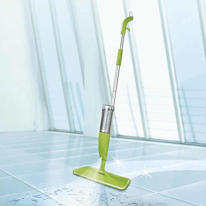 AYUN - Clean Spray de balai avec réservoir Balai serpillère Mop Spray(Fonction Spray, Spray Balai, Balai vert)