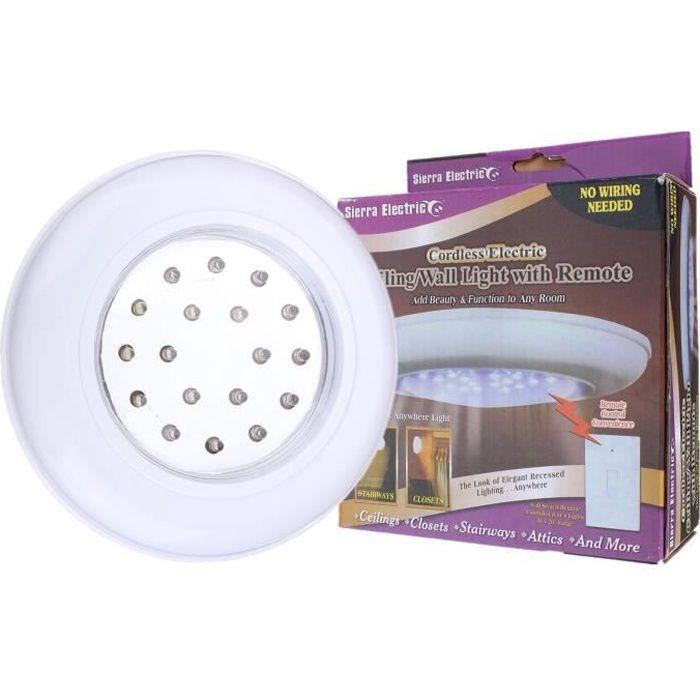 Plafonnier Avec Télécommande 18 LED Lampe de Plafond Sans Fil À Pile Luminaire Couloir