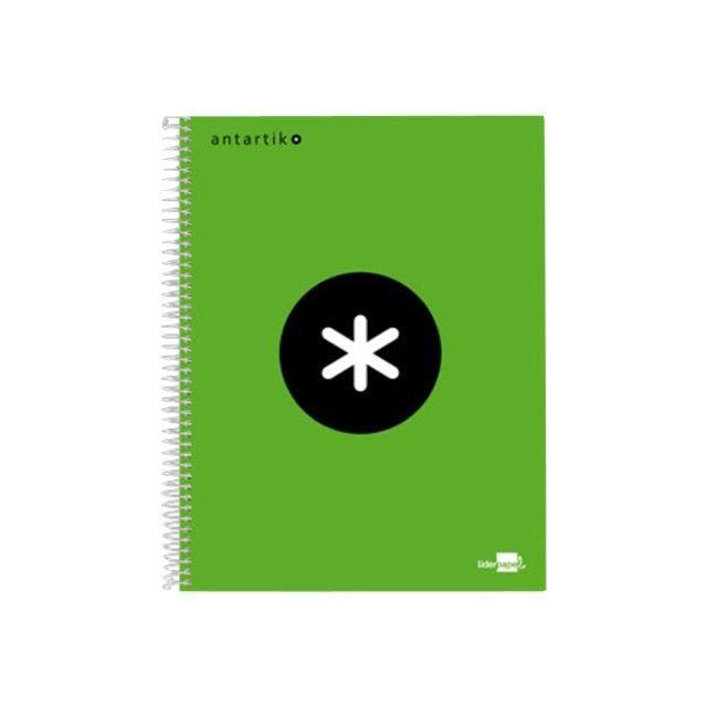 Liderpapel Antartik KD38 Cahier reliure à spirale A5 120 feuilles - 240 pages papier extra blanc petits carreaux 4 trous…
