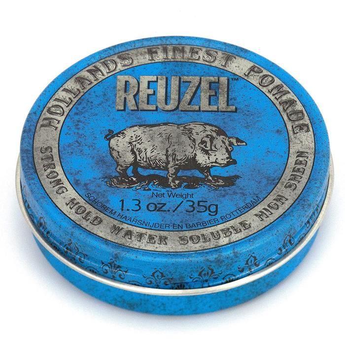 Reuzel Pommade Soluble à l'Eau Bleue à Tenue Forte pour Homme Parfum de Vanille 1,3 oz-35 g 402