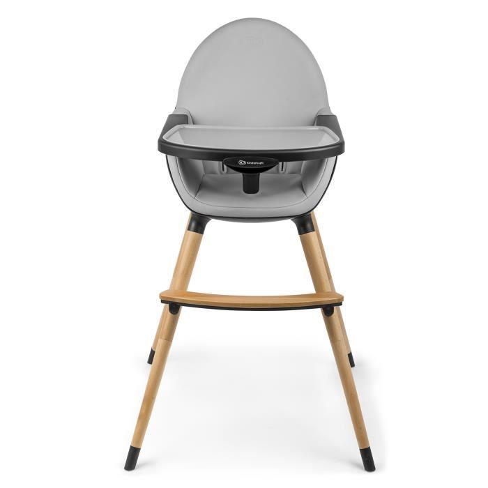 Chaise haute évolutive pliante avec pieds en bois 2en1 enfant bébé 6m-5ans FINI - noir - noir. Noir