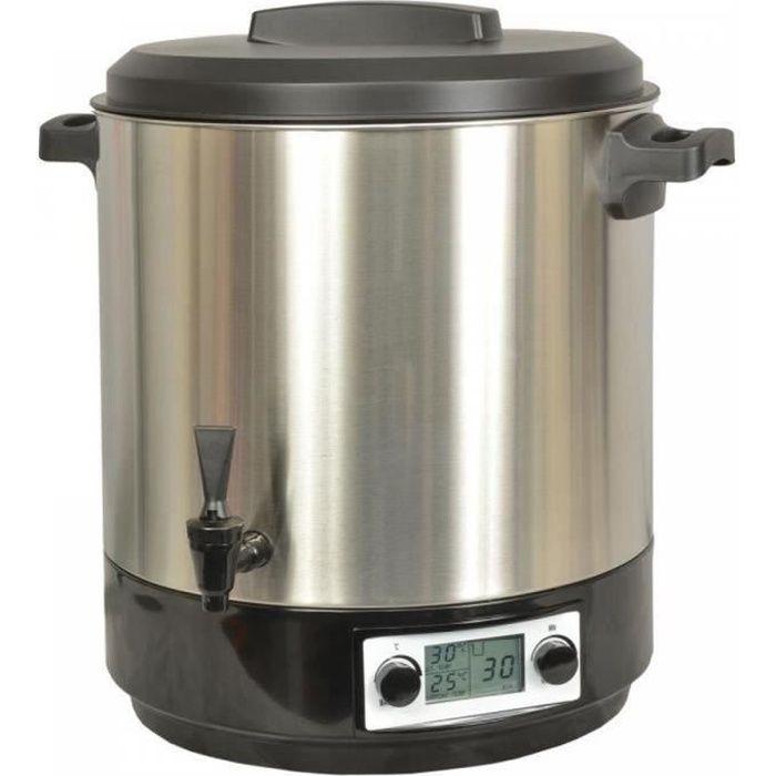 Kitchen chef - stérilisateur électrique lcd avec robinet et minuteur 31l 2000w inox - kcpst31lcd.ix