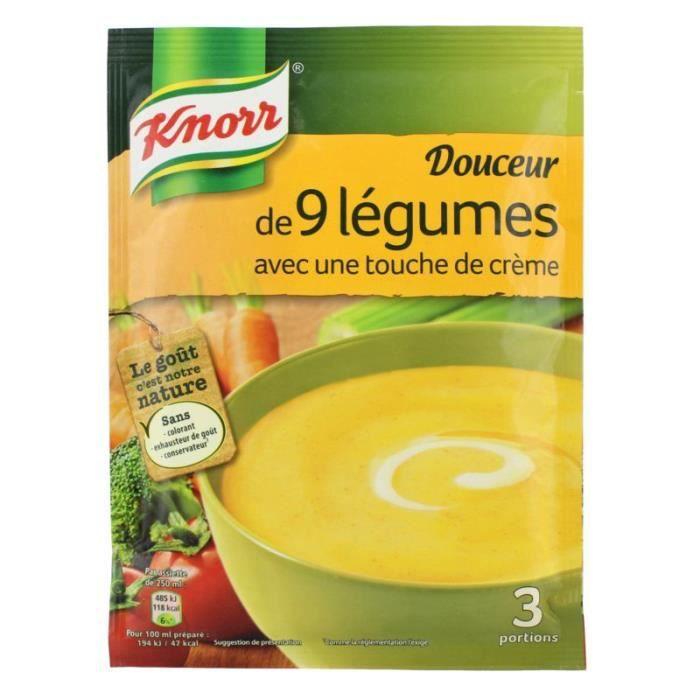 Soupe douceur 9 légumes