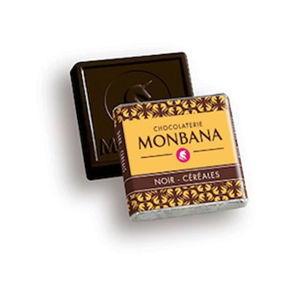 Carrés Monbana Noir Céréales - Boite de 200