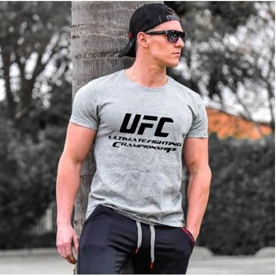UFC Ultimate Fighting Championship Mma Logo T-Shirts-Gris
