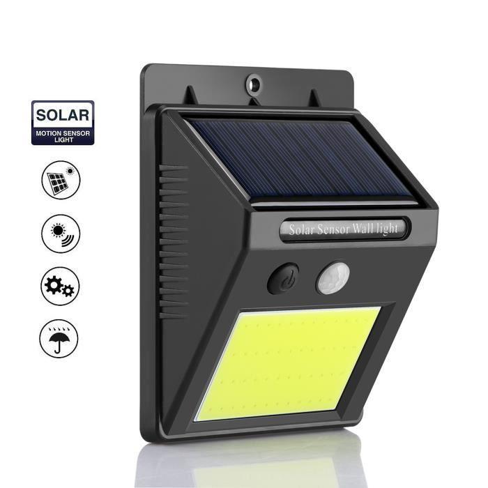 48-LED Lampe Solaire Jardin LED Luminaire Exterieur Détecteur de Mouvement Lampe Solaire LED Etanche Luminaire exterieur IP65