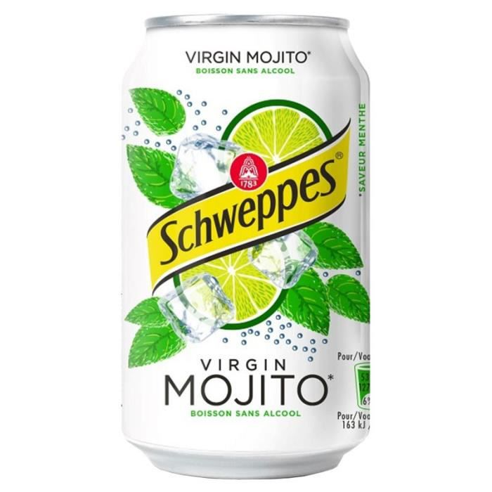 Schweppes Virgin Mojito 33cl (pack de 24)