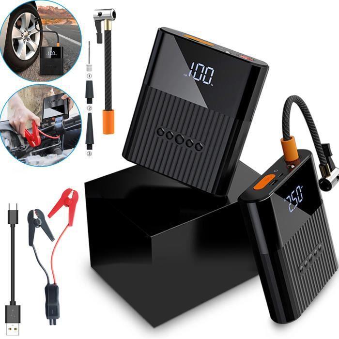 Compresseur d'air Voiture Portatif 12V avec démarreur de Voiture, gonfleur de Pneu avec 8800mAh Batterie Externe