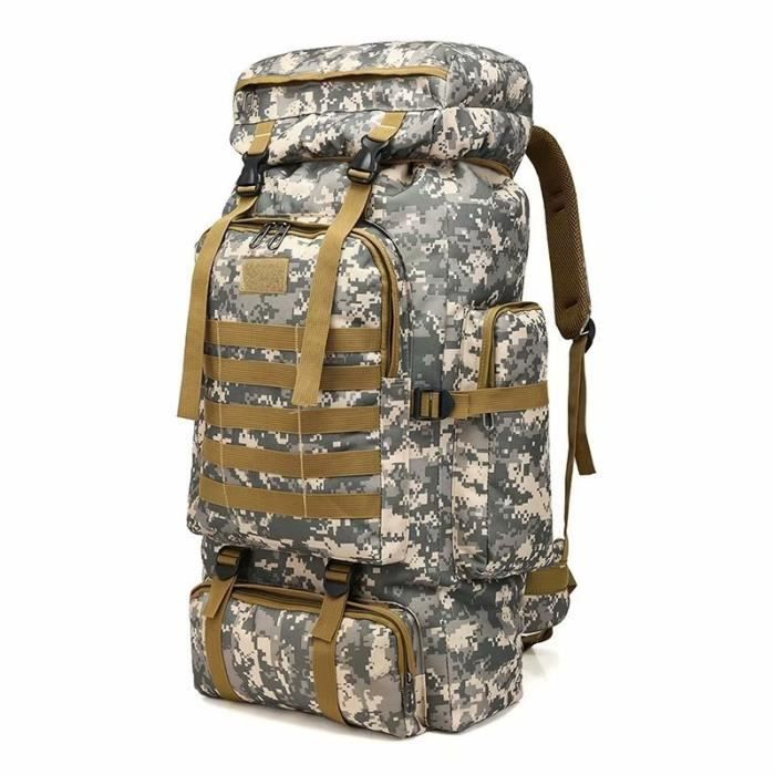 Selighting 50L Sac à Dos Tactique Militaire Sacs Molle Homme Imperméble pour Voyage Camping Trekking Randonnée Camping