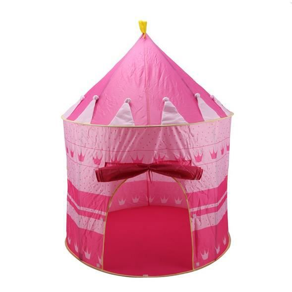 enfant tente castle int rieur ext rieur f rique rose achat vente tente de camping. Black Bedroom Furniture Sets. Home Design Ideas