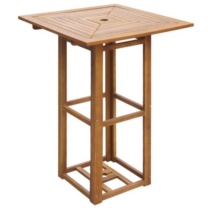 Table De Bar D Exterieur Bois D Acacia Achat Vente Ensemble