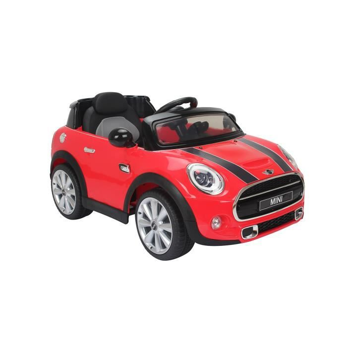 voiture lectrique 6v mini cooper rouge achat vente voiture enfant cdiscount. Black Bedroom Furniture Sets. Home Design Ideas