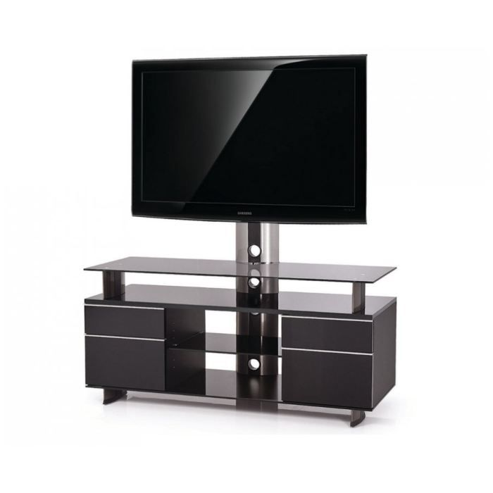 meuble tv noir et blanc laque pas cher. Black Bedroom Furniture Sets. Home Design Ideas
